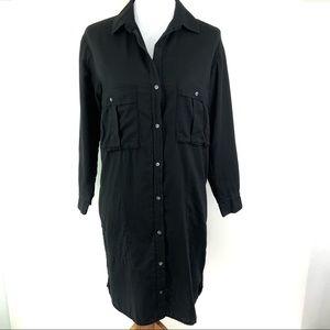 JAMES PERSE Button Down Shirt Dress Long Sleeve CL